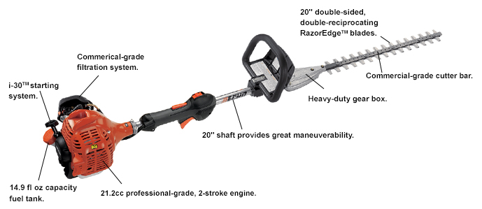 ECHO SHC225S Shaft Hedge Trimmer